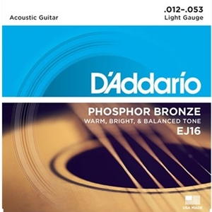 D'addario Phosphor Bronze Acoustic Light (.012-.053)