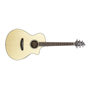 Breedlove Pursuit Exotic Series Concert CE Engelmann-Striped Ebony