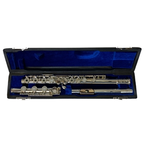Powell Sonare Flute - B Foot, Open Hole, Silver Head & Body, Gold Plated Lip Plate