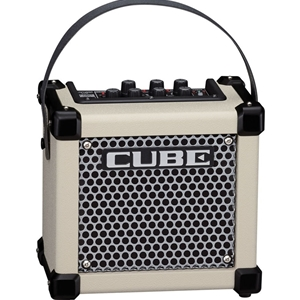 Roland Micro Cube Battery Powered Guitar Amp, White
