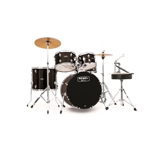 "Mapex Rebel 5pc Drum Set, 20"" Kick - Black"