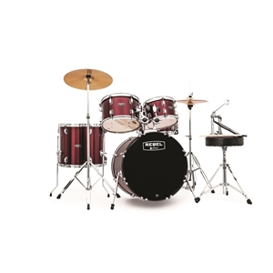 "Mapex Rebel 5pc Drum Set, 20"" Kick - Dark Red"