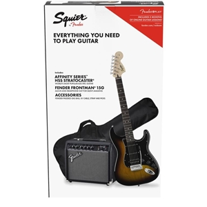 Affinity Stratocaster HSS Pack - Brown Sunburst