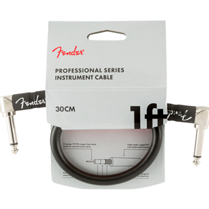 FENDER PROFESSIONAL SERIES INSTRUMENT CABLE 1 FOOT BLACK