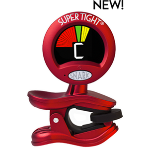 Snark Tuner Clipon Chromatc All Instrument Red with Microphone