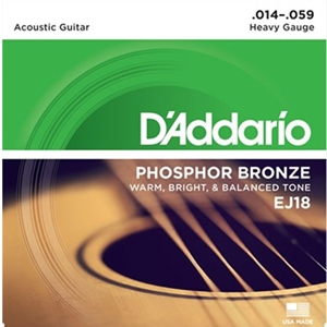 D'addario Phosphor Bronze Acoustic Heavy (.014-.059)