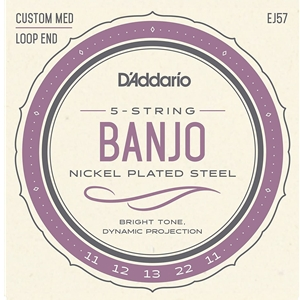 D'addario 5-String Banjo Nickle Medium (.011-.022)