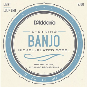 D'addario 5-String Banjo Light Strings