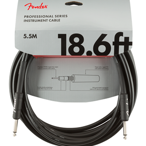Fender Professional 18.6' Instrument Cable Black