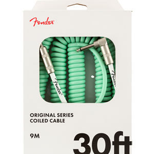 Fender Original Coil 30' Cable Surf Green