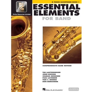 Essential Elements: Book 1 - Tenor Sax - Book W/ Eei