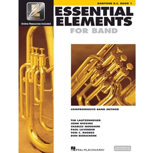 Essential Elements: Book 1 - Baritone Horn (Bass Clef) - Book W/ Eei