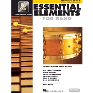 Essential Elements: Book 1 - Percussion - Book W/ Eei