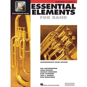 Essential Elements 2000: Book 2 - Baritone Horn (Treble Clef) - w/ EEi