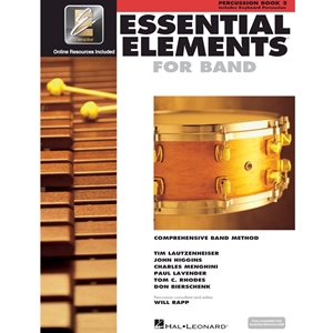 Essential Elements 2000: Book 2 - Percussion - w/ EEi