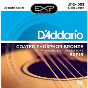 D'addario Coated EXP Acoustic Light Strings (.012-.053)