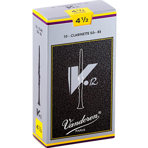 Vandoren Bb Clarinet V12 4.5 Reeds, box of 10