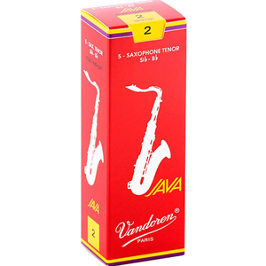 Vandoren Java Red Tenor Sax #2 Reeds, Box 5