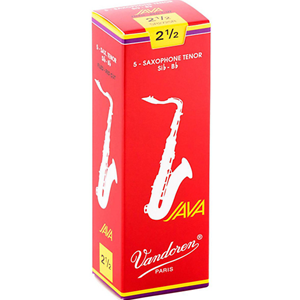 Vandoren Java Red Tenor Sax #2.5 Reeds, Box 5