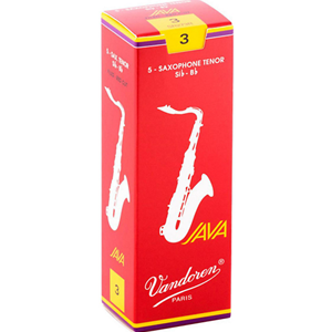Vandoren Java Red Tenor Sax #3 Reeds, Box 5