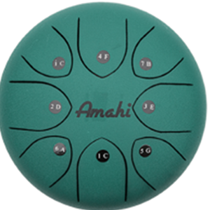 "Amahi Steel Tongue Drum 8"" Green"