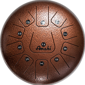 "Amahi Steel Tongue Drum 12"" Bronze"