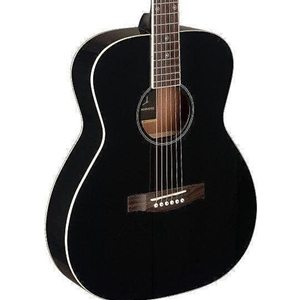 J.N Guitars Bessie Series Auditorium Black Acoustic with Solid Spruce Top