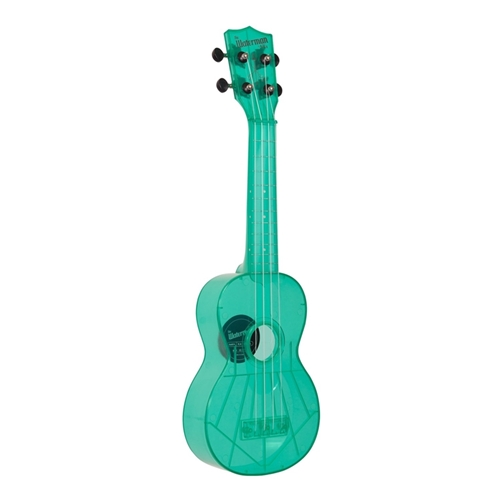 Kala Waterman Soprano Ukulele, Fluorescent Blue