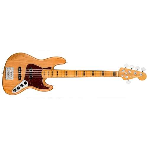 American Ultra Jazz Bass® V, Maple Fingerboard, Aged Natural