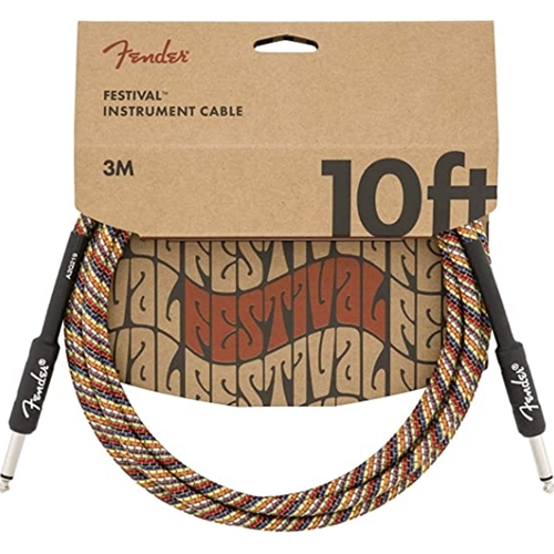 Fender Festival Instrument Cable Rainbow 10 Feet