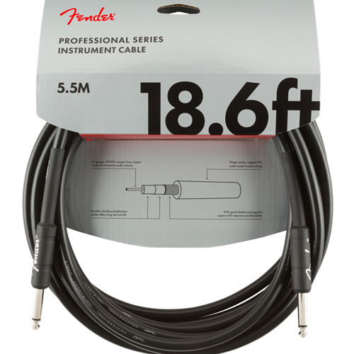 Fender Professional Instrument 18.6' Cable Black