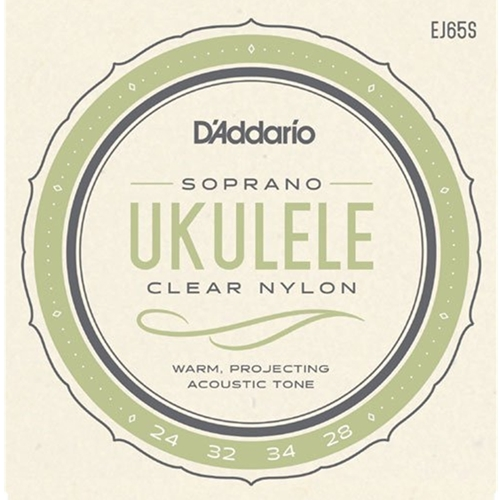 D'addario Soprano Ukulele Strings- Clear Nylon