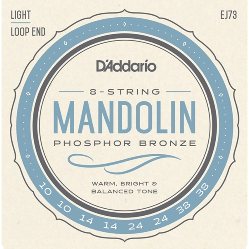 D'addario Phosphor Bronze Mandolin Light Strings