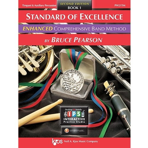 Standard Of Excellence Enhanced: Book 1 - Timpani & Auxiliary Perc.