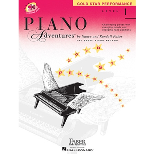 Faber Piano Adventures: Level 1 - Gold Star Performance - W/audio access