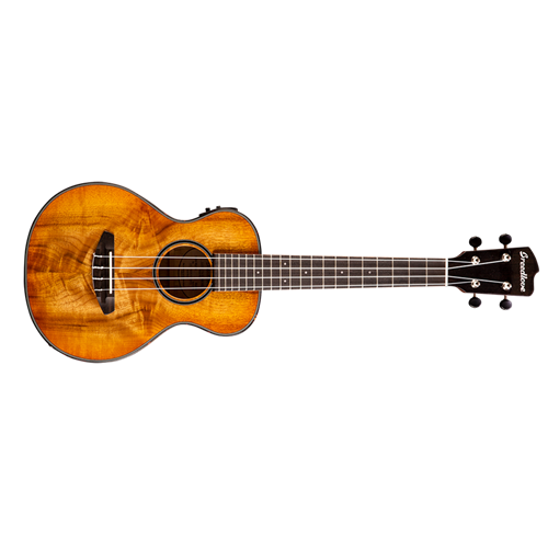 Breedlove Lu'au Tenor Ukulele Natural Shadow E Myrtlewood-Myrtlewood
