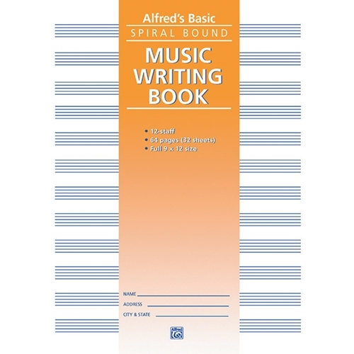 Alfred 12 Stave Manuscript Paper (spiral, 64 Pages)