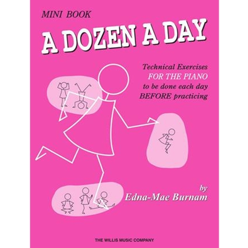 Burnam: A Dozen A Day - Mini Book (pink) - Piano